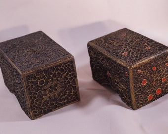Magic the Gathering Hand made Deck Box Gold-Royal Tempra-Structure by Saturian Khazard, MtG, Jewelry Box