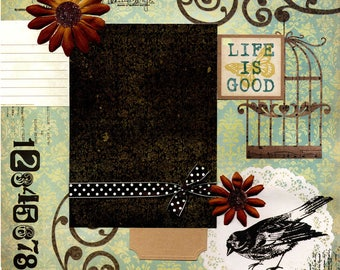 Life Is Good - Page Scrapbook Premade 12 x 12