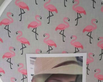 Flamingo rose.tout rond.pour picture frame baby room.