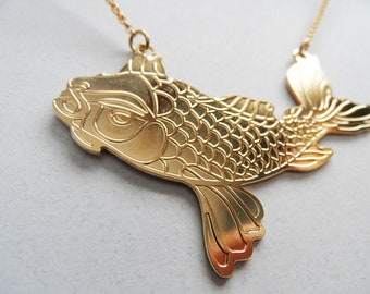 japanese koi koi necklace koi jewelry koi fish necklace koi necklace koi fish necklace fish charm gold fish