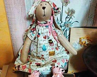 Handmade Hare Tilda Rabbit Stuffed Toy Interior Decor