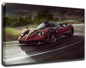 Great PAGANI ZONDA Canvas/Poster Wall Art Pin Up HD Gallery Wrap Room Decor Home  Decor