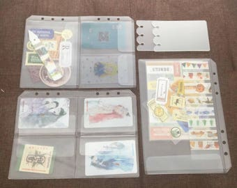 Stickers Pockets/ Planner Pockets/Pocket Sheets/Plannner Organizer/A5/GM Size/A6/PM Size/Personal Size/Fits Louis Vuitton Planner accessorie