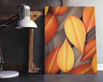 Autumn printable wall art, autumn decor, autumn leaves home decor, leaves print, fall wall art, nature print, botanical floral decor