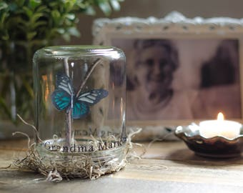 Memories | Sympathy gift | Condolence | Bereavement | Loss of loved one | Funeral gift | Personalized memorial butterfly | In memory of