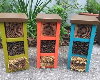 Mason Bee House - Garden Art - Biodiversity Box