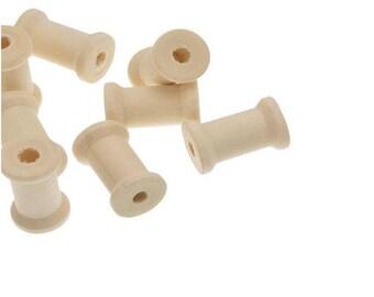 1 Pearl wooden spool 27 x 17 mm