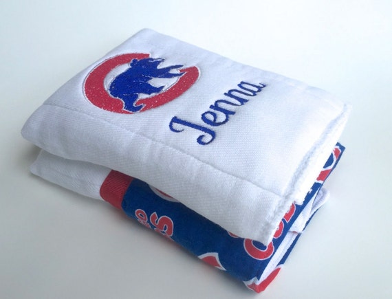 Chicago cubs baseball personalized burp cloths baby burp chicago cubs baseball personalized burp cloths baby burp cloth personalized baby gift negle Gallery