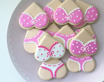 Bachelorette Party, Girl's Night Party, Bachelorette Favors, Vegas Cookies, Panty Cookies, Party Favors, Gift Bags, Bachelorette Cookies