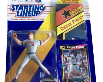 MLB Starting Lineup SLU Chuck Finley Action Figure California Angels 1992 Kenner