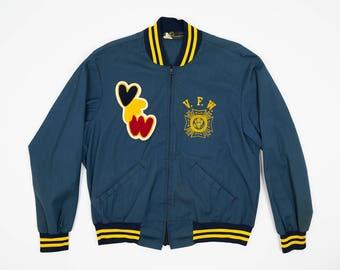 VFW Jacket L - 70s Champion Club Jacket Men's L - Vintage Men's Letterman's Jacket - Vintage Stadium Jacket - Vintage Champion Jacket Large