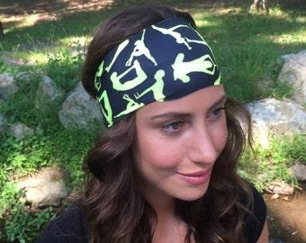Running - Yoga Headband - Yogi Band Print - Nonslip Headband