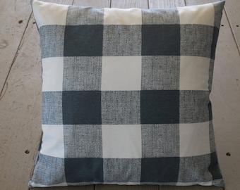 Charcoal buffalo check Pillow, Shabby Chic, Farmhouse Style, Farm36, INSERT INCLUDED