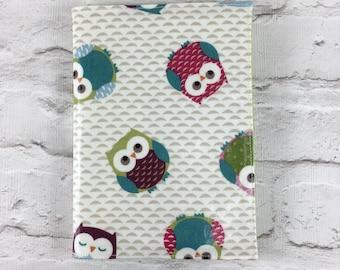 Funky owl Oilcloth A5 book cover