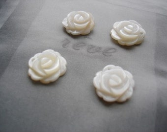 Natural Shell Rose Set Of 4