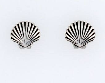 Sterling Silver Scallop Choice - Charm, Post, Dangle Earrings