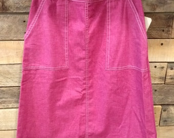 Rare Fuschia 70's Mr. Mort Wrap Skirt--New with tags!
