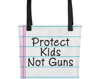 Protect Kids Not Guns Tote - Gun Control - Enough - Never Again - Handbag - Bag - NRA is a Terrorist Organization