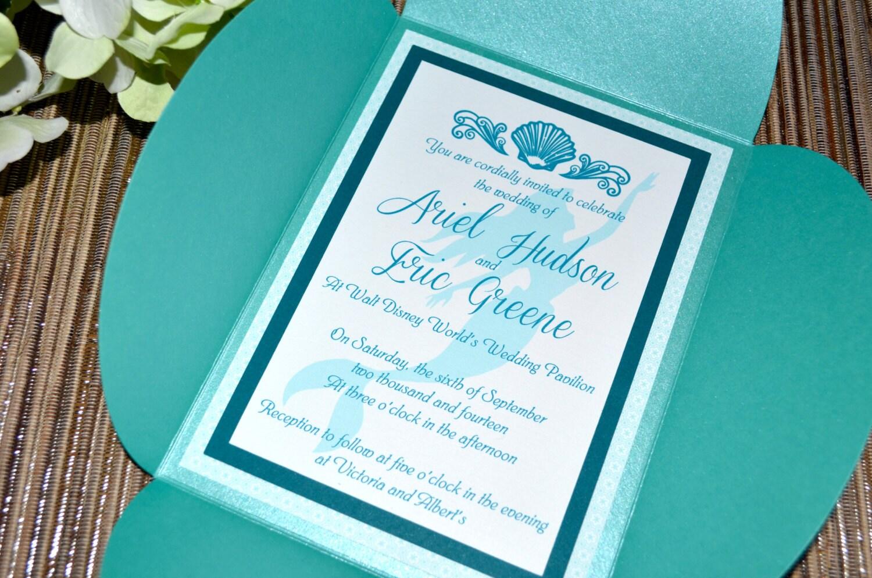 Fairy tale wedding invitations the little mermaid petal zoom monicamarmolfo Images