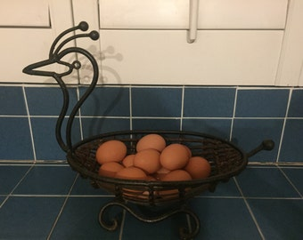 Vintage Metal Bird Basket
