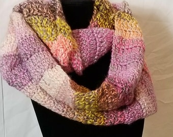 Pink & Yellow Infinity Scarf