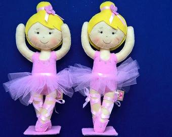 Ballerina Doll in Felt