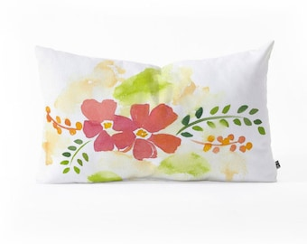 Oblong Throw Pillow - First Bloom