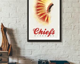 Chiefs Headdress Art Print
