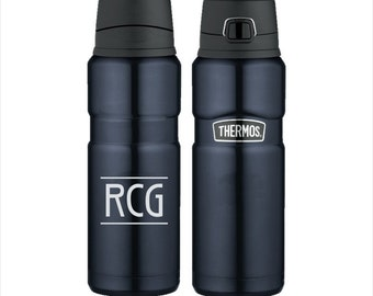 Engraved Thermos Stainless King 24oz Direct Drink Bottle - Personalized Stainless Steel Thermos Brand Mug - Personalized Coffee Travel Mug