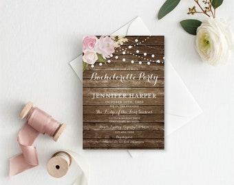 Bachelorette Party Invitation Template, DIY Bachelorette Invite, Cheap Invitation, Rustic Invitation, INSTANT Download PDF Template #CL102