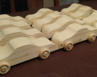 Race Car Party, Race Car Birthday, Car Party, Party Favors,  Wood Car, Toy Car, Wood Car Toy, Wooden Car, Crafts for Kids, Pack of 12 cars