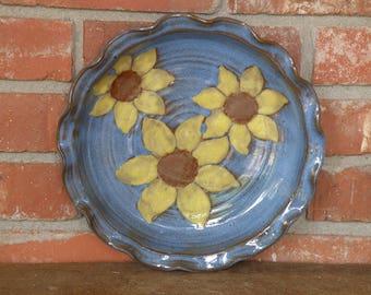Sunflower Deep Dish Pie Plate