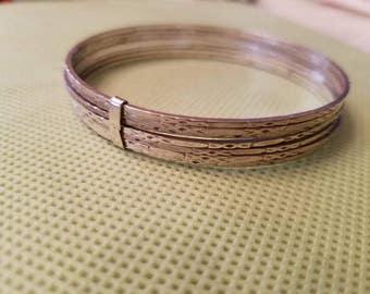 Vintage Sterling Silver Bracelet Ladies Bangle