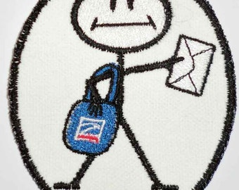 Iron-On Patch - POSTAL CARRIER