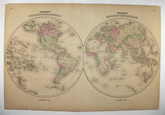 Antique world map western hemisphere eastern hemisphere map gumiabroncs