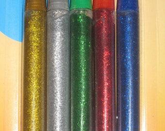 Tube gel with glitter glue