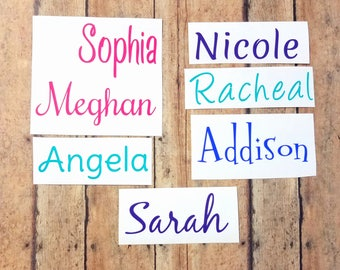 Custom Vinyl Name Decal, Personalized Bridesmaids Gift for Her, Custom Personalized Water Bottle, Decal for Tumbler, Decal for Yeti