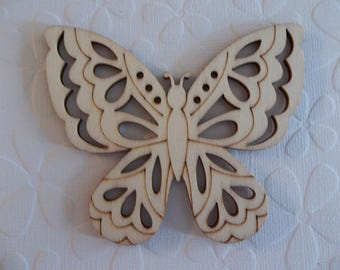 Wood Butterfly Shape - 3.5 inch - Design Cutouts - Wood Embellishment - Wood Wall Art - Wooden Shape - Butterfly Cut-Out - Craft Wood Shape