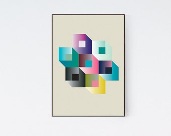 Geometric Bold Modern Graphic Design Art Poster