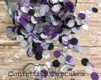 Tissue Paper Confetti, Purple Black Silver White Confetti for Birthday Party Wedding Reception Confetti Toss Balloon Confetti Piñata