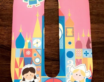 It's A Small World wooden letter decor| wood letters| Disney