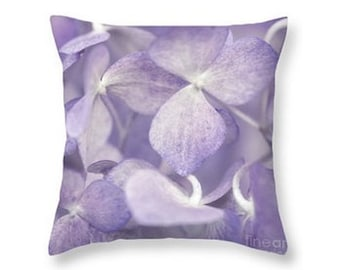 Purple Flowers Throw Pillow, Botanical Print Pillow, Flower Photography, Nature, Home Decor, Nursery Decor Lavender, Lilac -NO. 0968