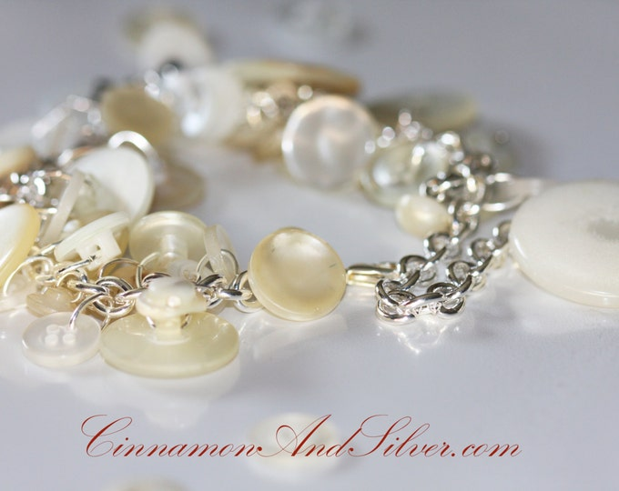 Downloadable Tutorial: Make Your Own Custom Button Charm Bracelet by Cinnamon and Silver