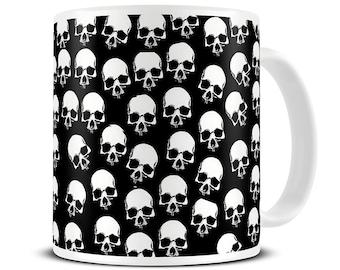 Skull Heads Coffee Mug - skull gifts - MG107