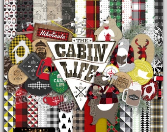 The Cabin Life (Digital Scrapbooking Mega Kit)