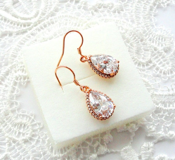 cz earrings raquel pearl jewelry bridesmaid and bridal