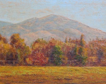 Summit Mt. Diablo, View from Pleasant Hill Public Library, Original Oil Painting