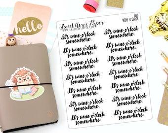 Wine Planner Stickers - Mom Life Planner Stickers - Typography Planner Stickers - Mom Planner Stickers - School Stickers - 1333