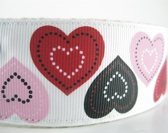 Big Hearts extra large hemp dog collar