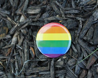 RAINBOW Equal Rights - Pinback or Magnet Button or Badge Reel